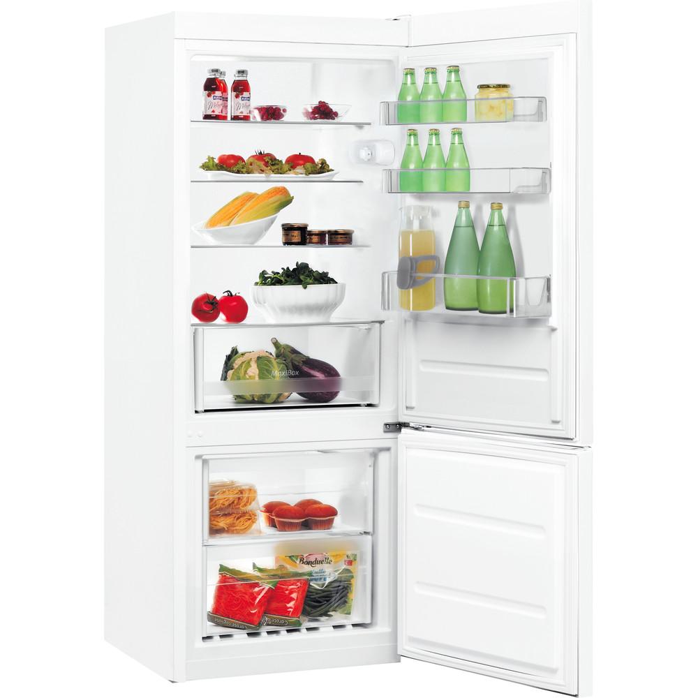 Indesit Kombinovaná chladnička s mrazničkou Voľne stojace LR6 S2 W Biela 2 doors Perspective open