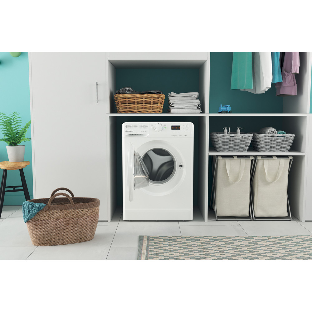 Indesit Lave-linge Pose-libre MTWA 71483 W EE Blanc Frontal D Lifestyle frontal open