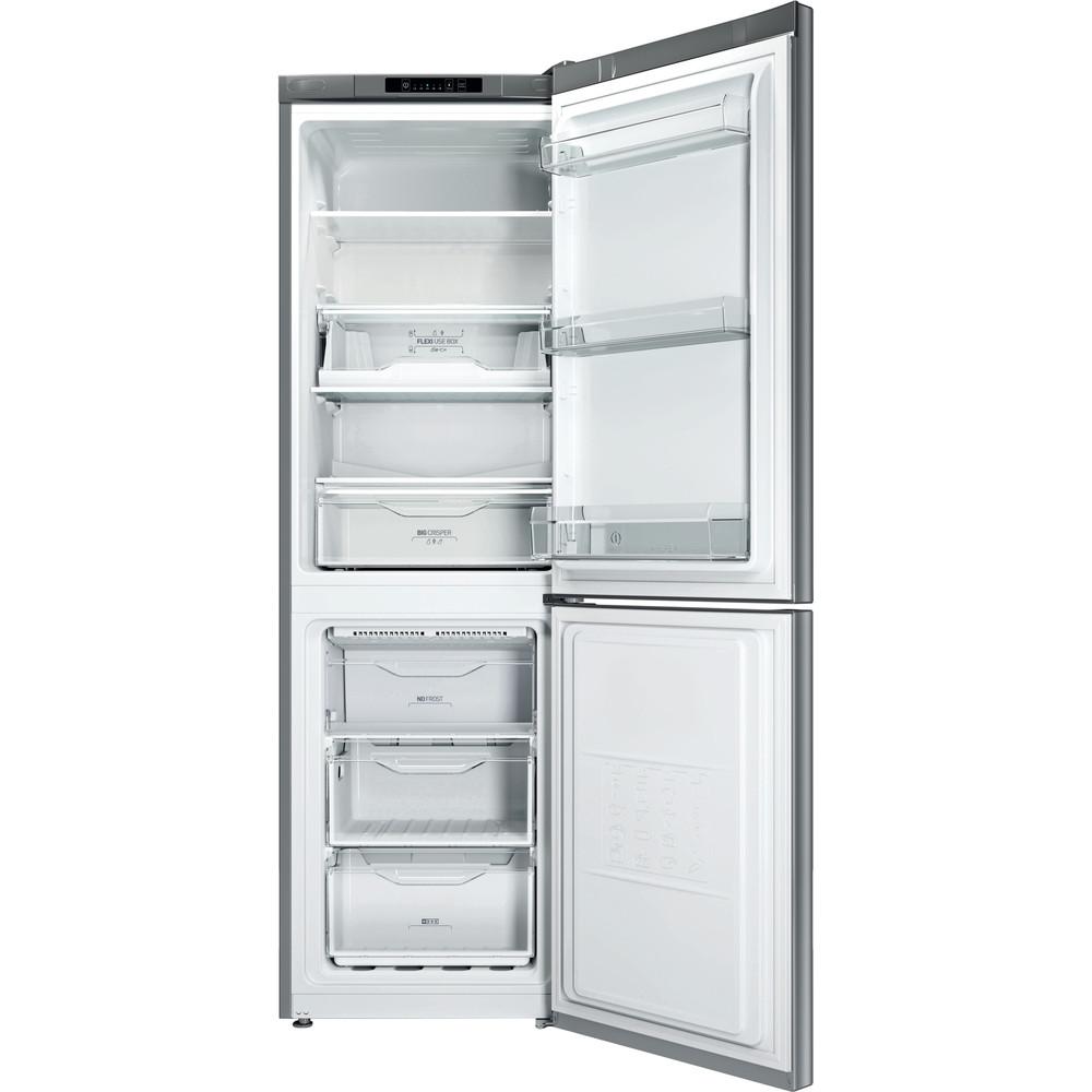 Indesit Холодильник з нижньою морозильною камерою. Соло LI8 FF2I X Нержавіюча сталь 2 двері Frontal open