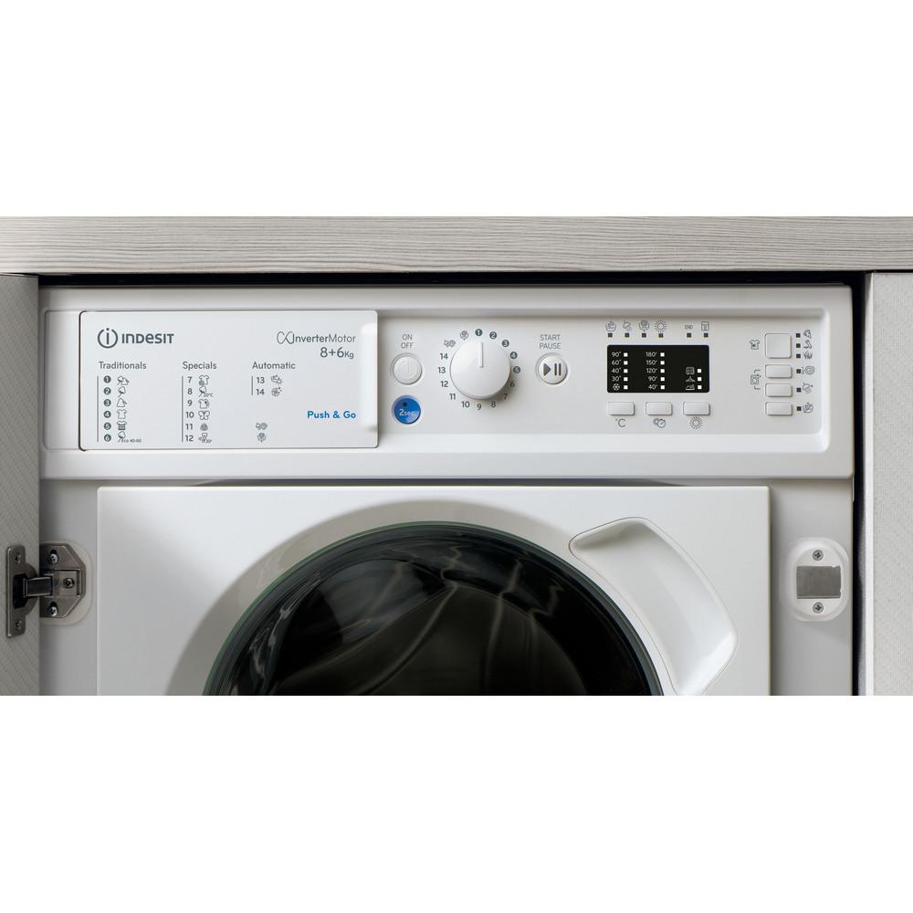 Indesit Máquina de lavar e secar roupa Encastre BI WDIL 861284 EU Branco Carga Frontal Lifestyle control panel