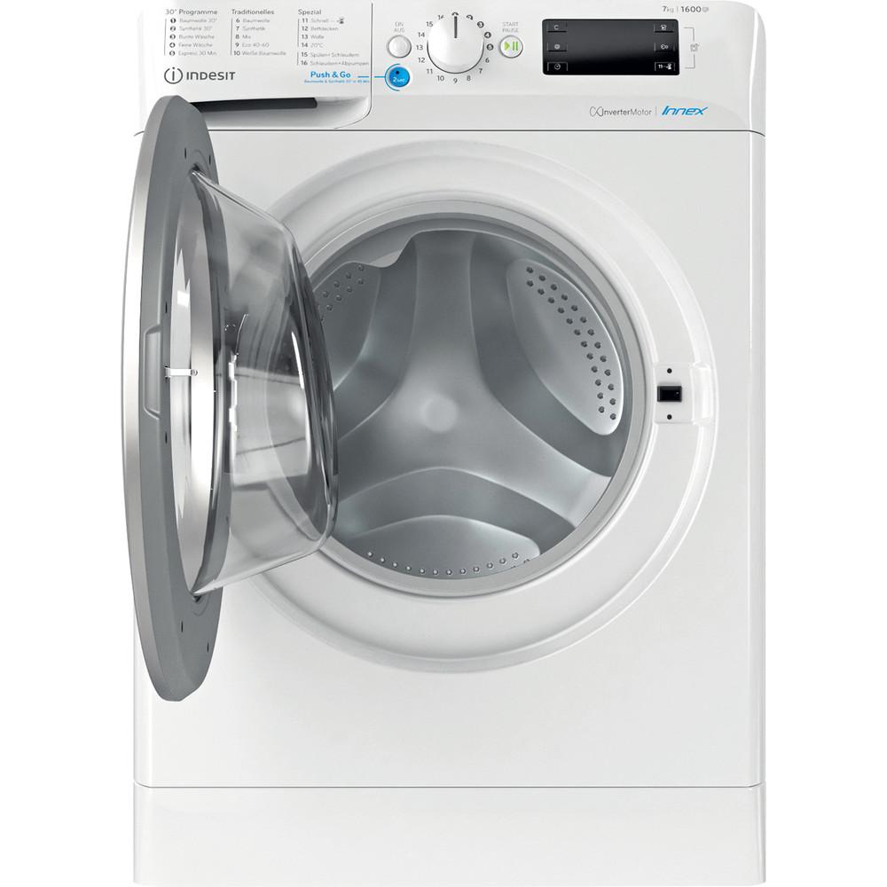 Indesit Waschmaschine Freistehend BWE 71682XE WS DE N Weiß Frontlader E Frontal open