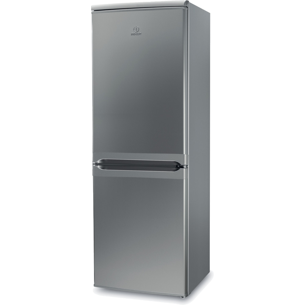 Indesit Fridge Freezer Free-standing IBD 5515 S 1 Silver 2 doors Perspective