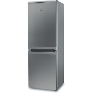Indesit Fridge Freezer Free-standing IBD 5515 S 1 Silver 2 doors Perspective