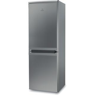 Indesit Fridge-Freezer Combination Free-standing IBD 5515 S 1 Silver 2 doors Perspective