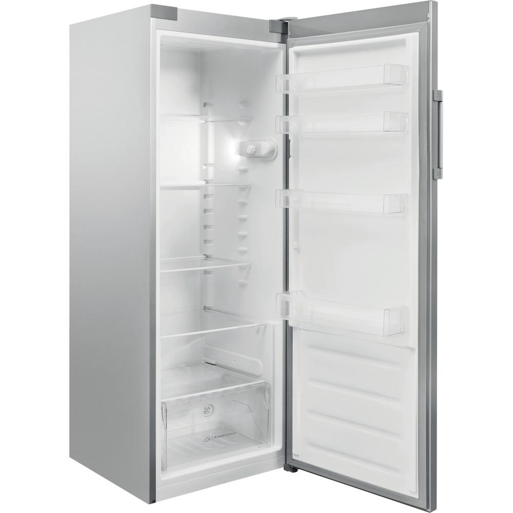 Indesit Réfrigérateur Pose-libre SI6 1 S Argent Perspective open