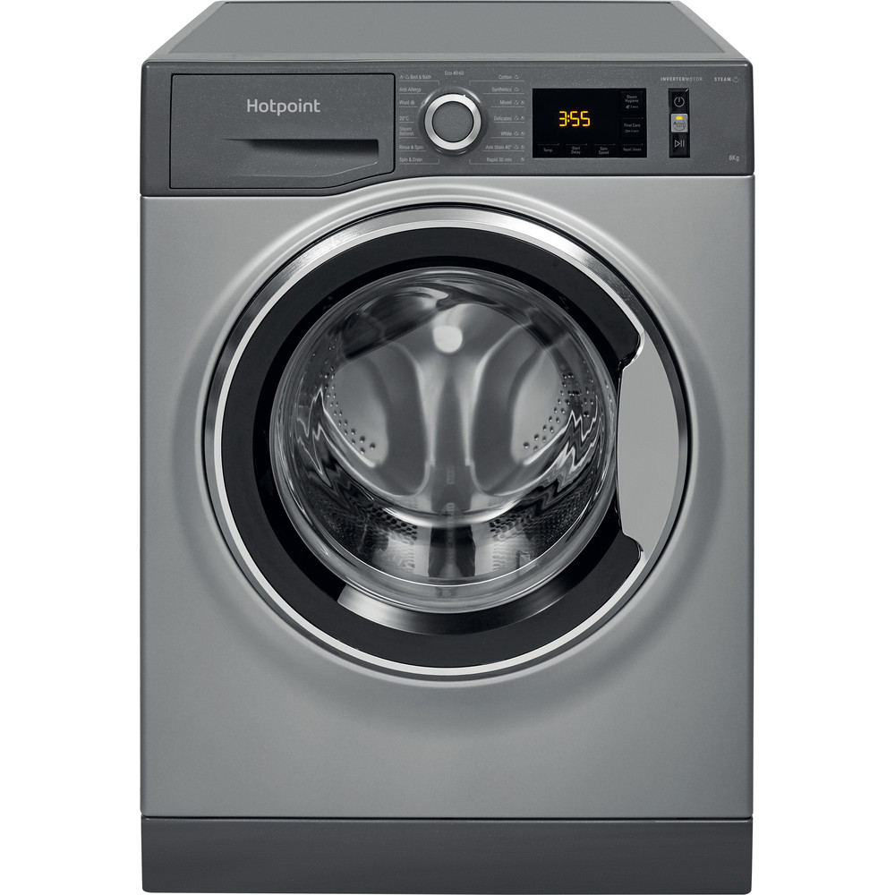 Hotpoint Washing machine Free-standing NM11 844 GC A UK N Graphite Front loader A+++ Frontal