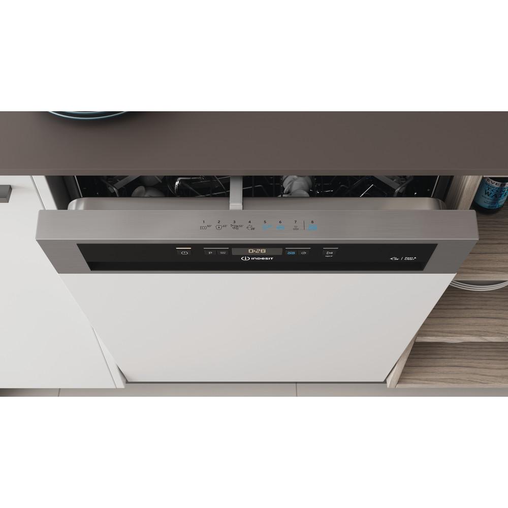 Indesit Lave-vaisselle Encastrable DBC 3C24 AC X Semi-intégré E Lifestyle control panel
