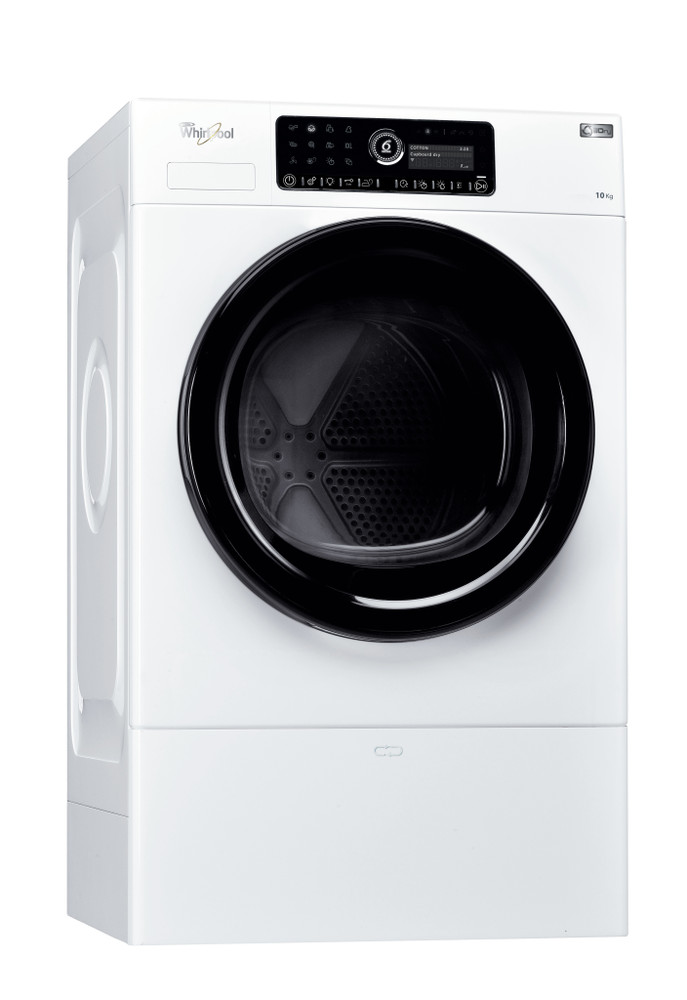Whirlpool Dryer HSCX 10444 White Perspective
