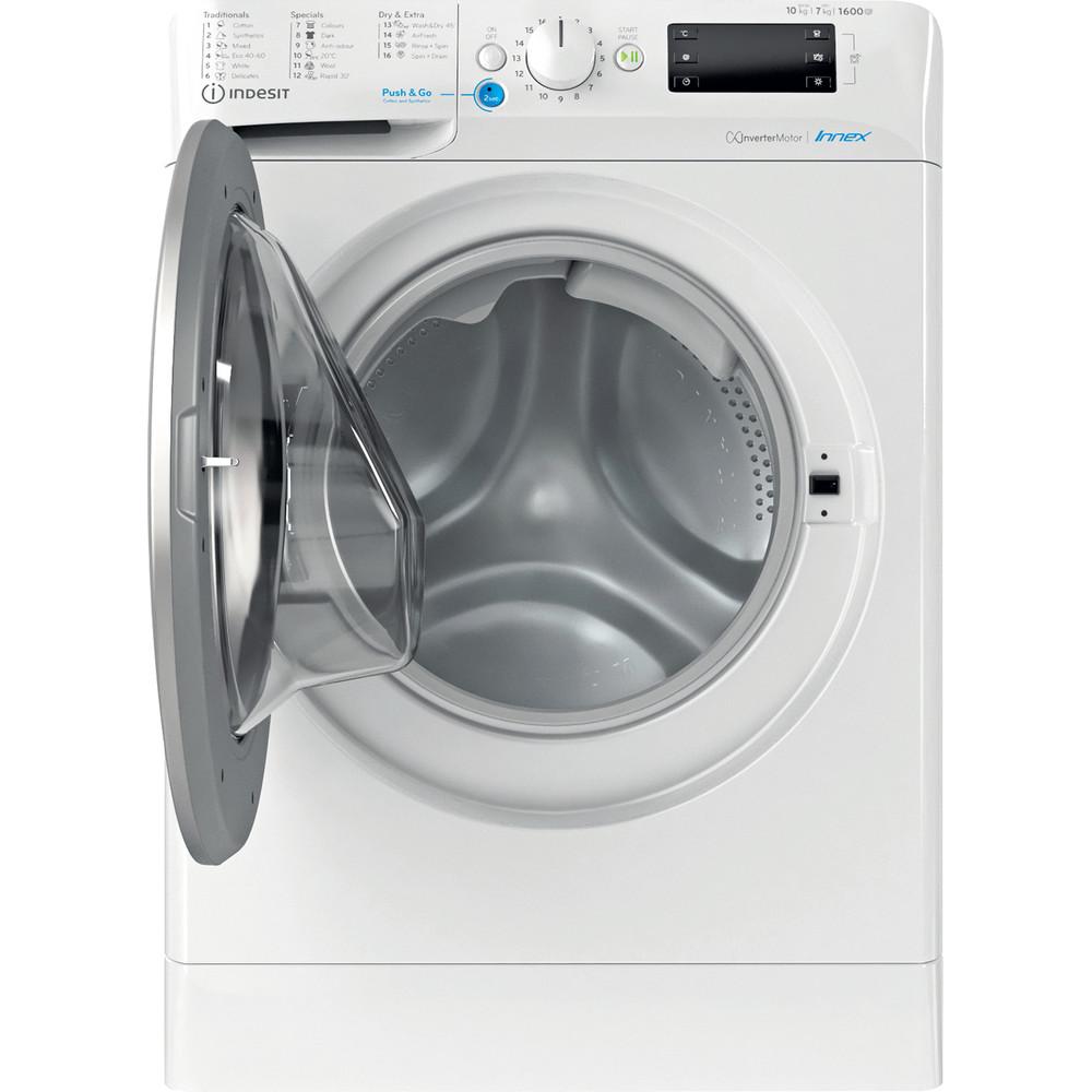 Indesit Πλυντήριο-στεγνωτήριο Ελεύθερο BDE 1071682X WS EE N Λευκό Front loader Frontal open