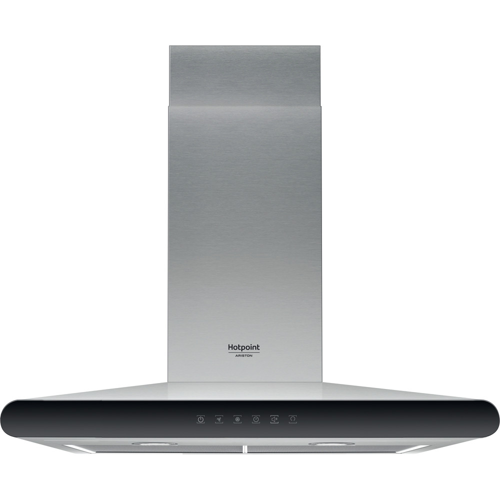 Hotpoint_Ariston Exaustor Encastre HHC 6.7F LT X Inox Wall-mounted Eletrónico Frontal