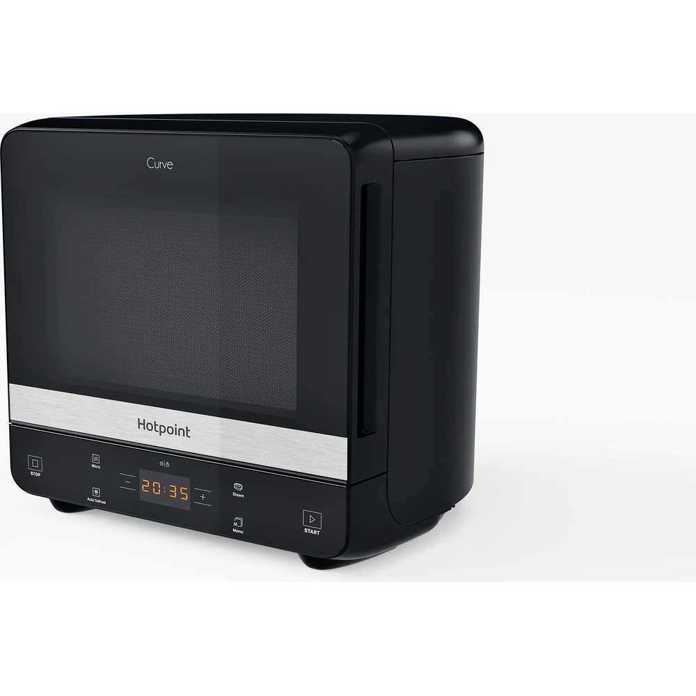 Hotpoint Microwave Free-standing MWHC 1335 MB Black Matt Electronic 13 MW only 700 Perspective