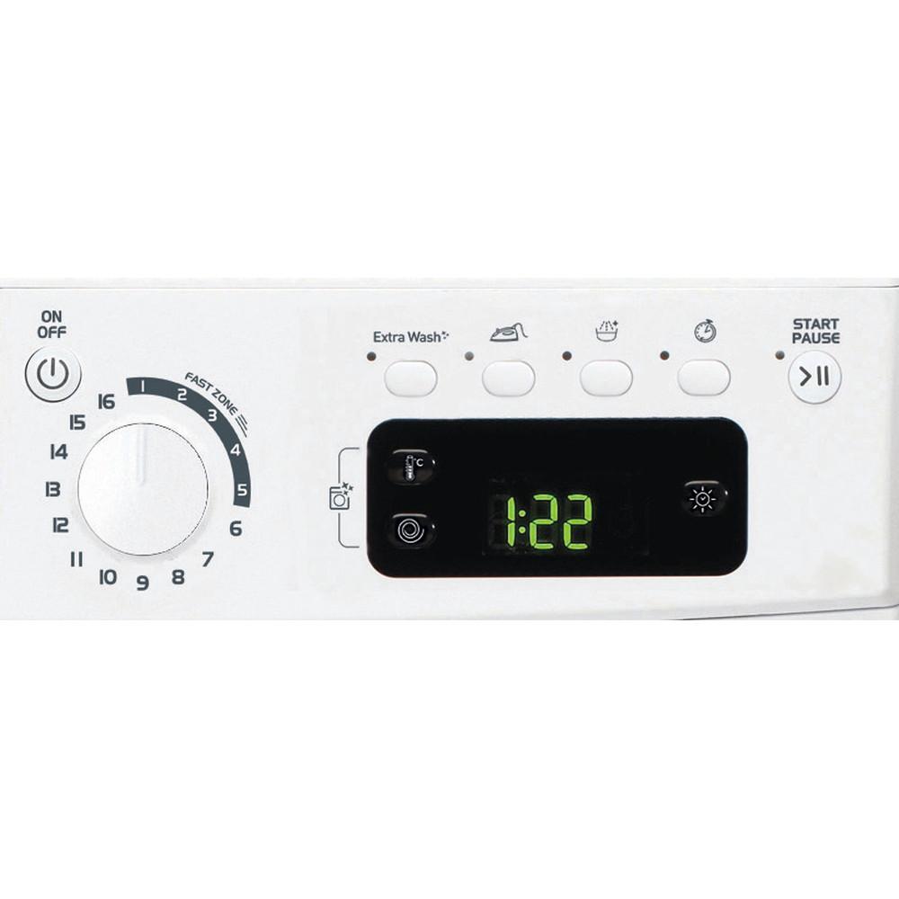 Indesit Wasdroger Vrijstaand EWDE 751451 W EU N Wit Voorlader Control panel