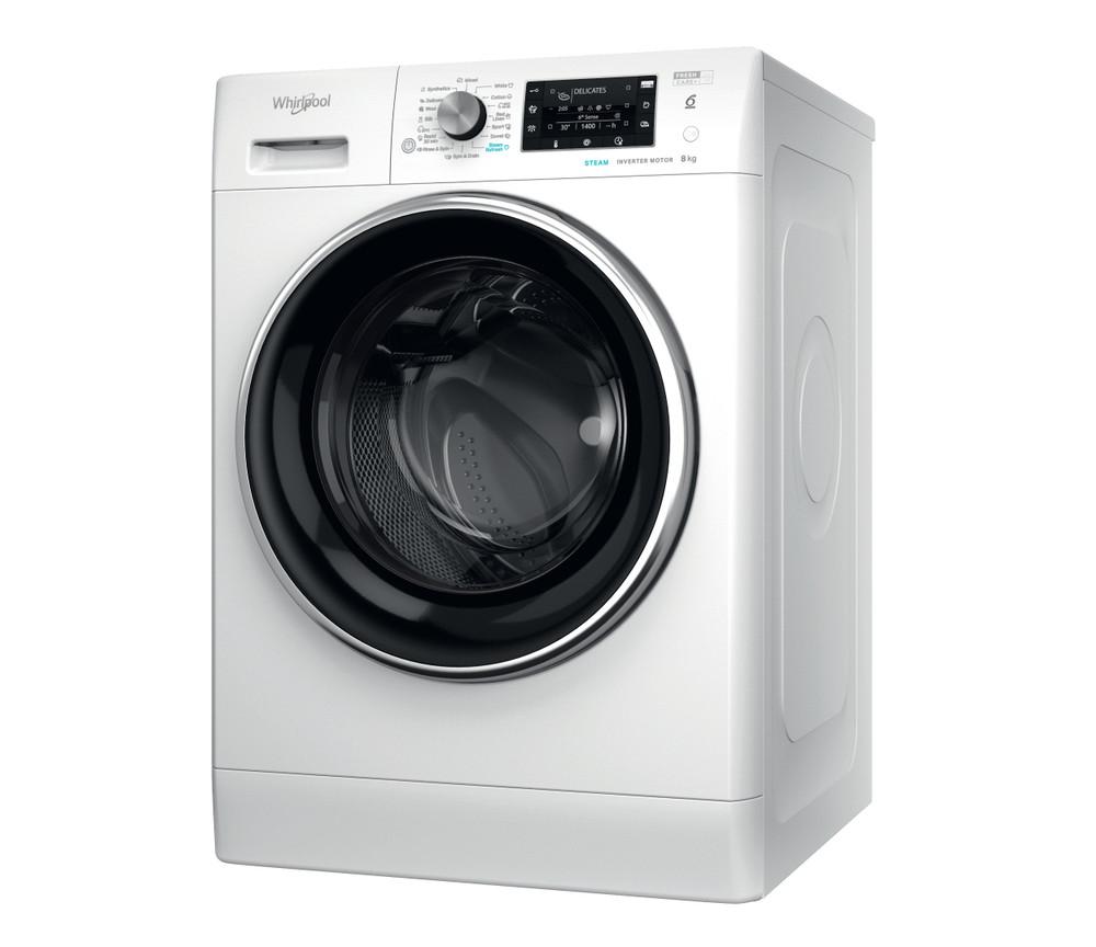 Whirlpool Washing machine Samostojni FFD 8458 BCV EE Bela Front loader B Perspective
