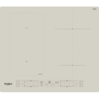 "Whirlpool Paviršius WL B6860 NE/S ""Silver Dawn"" Induction vitroceramic Frontal"