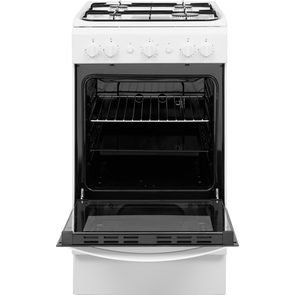 Indesit Cooker IS5G1KMW/U White GAS Frontal open