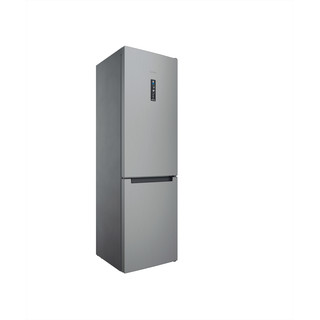 Indesit Hűtő/fagyasztó kombináció Szabadonálló INFC9 TT33X Inox 2 doors Perspective