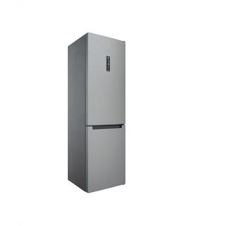 Indesit Kühl-/Gefrierkombination Freistehend INFC9 TT33X Inox 2 Türen Perspective