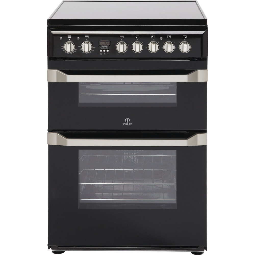 Indesit Double Cooker ID60C2(K) S Black A Vitroceramic Frontal