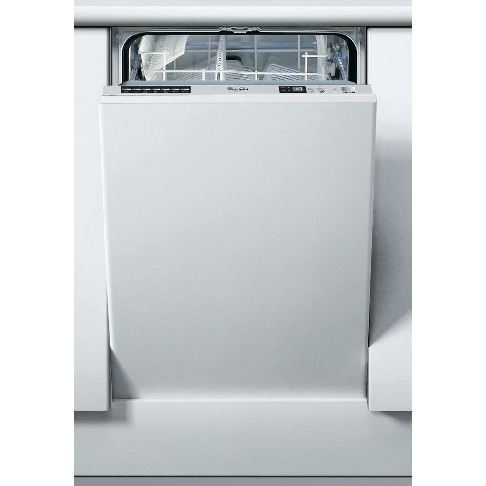 Whirlpool integrerad diskmaskin: färg silver, 45 cm - ADG 185