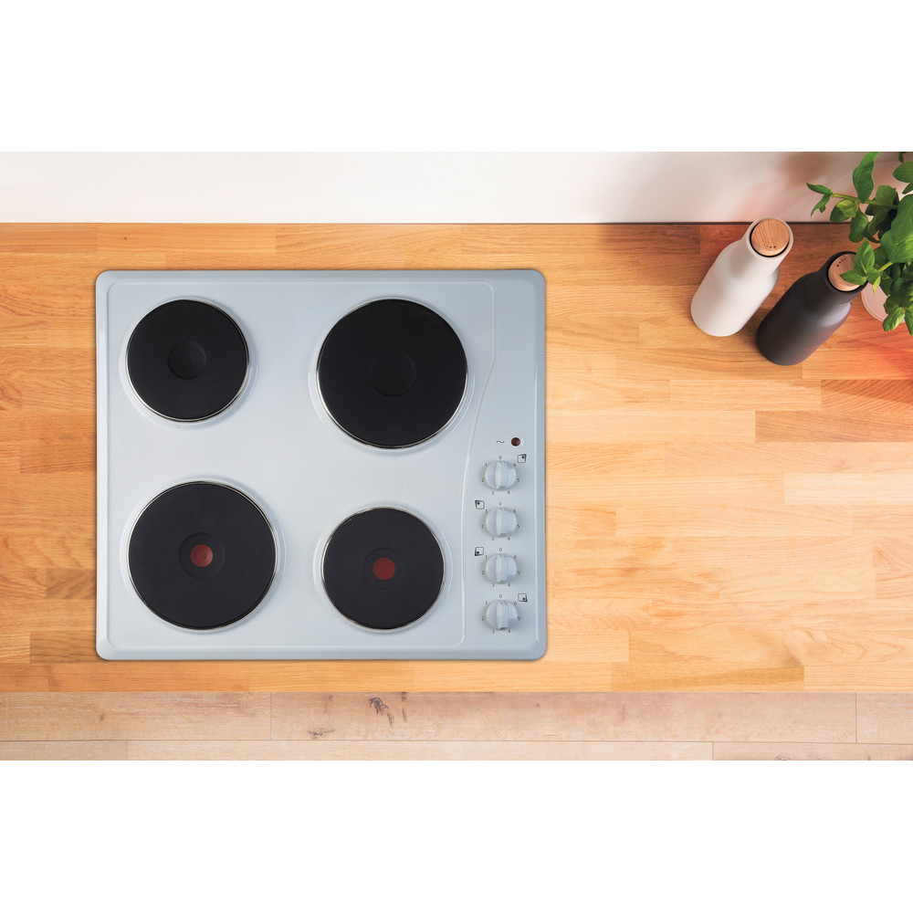 Indesit HOB TI 60 W White Solid Plate Lifestyle frontal