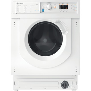Indesit Lavadora secadora Encastre BI WDIL 751251 EU N Blanco Cargador frontal Frontal