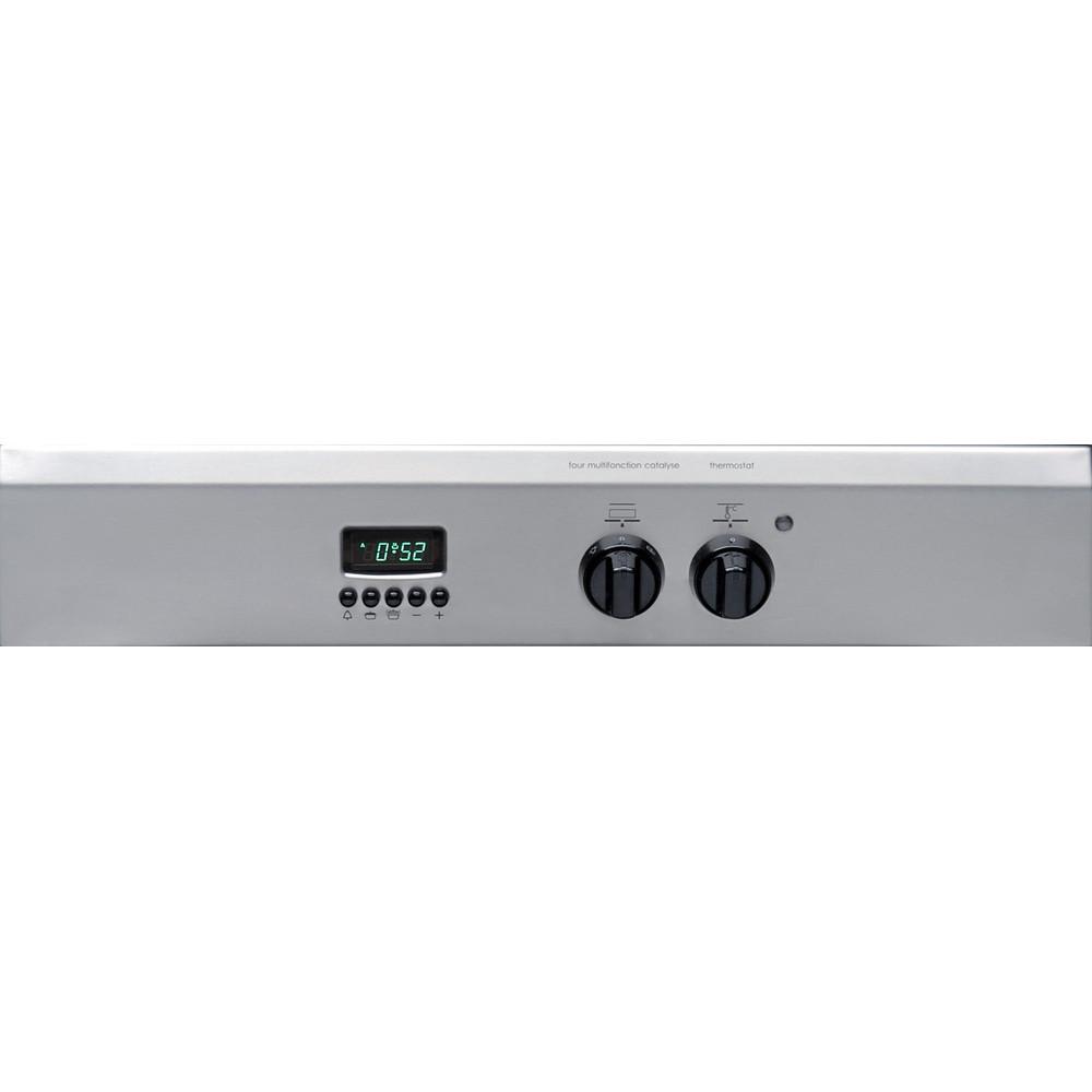 Indesit Standherd I63I 6C6A.T(X)/FR Edelstahloptik Elektro Control panel