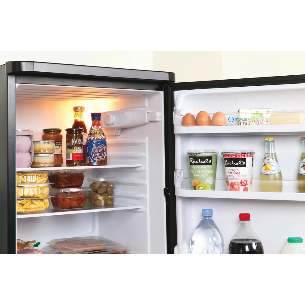 Indesit Fridge-Freezer Combination Free-standing IBD 5517 B UK 1 Black 2 doors Lifestyle detail