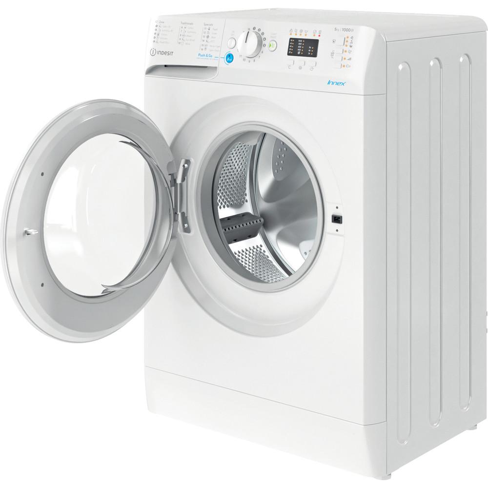 Indesit Pračka Volně stojící BWSA 51051 W EE N Bílá Front loader F Perspective open