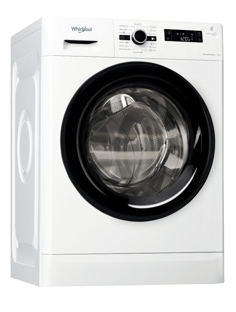 Whirlpool Washing machine Samostojeća FWF71483B EE Bela Prednje punjenje A+++ Perspective
