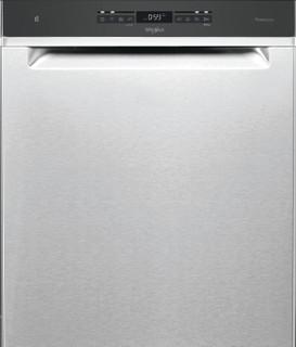 Whirlpool-opvaskemaskine: inox-farve, fuld størrelse - WUO 3O41 PLG X
