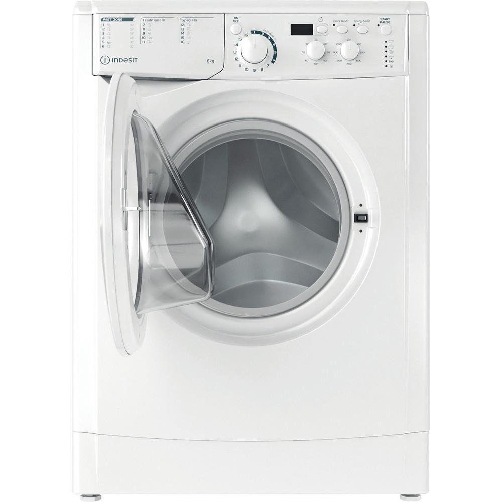 Indesit Waschmaschine Freistehend EWD 61051E W EU N Weiß Frontlader F Frontal open