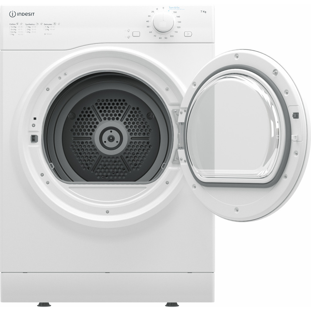 Indesit Dryer I1 D71W UK White Frontal open