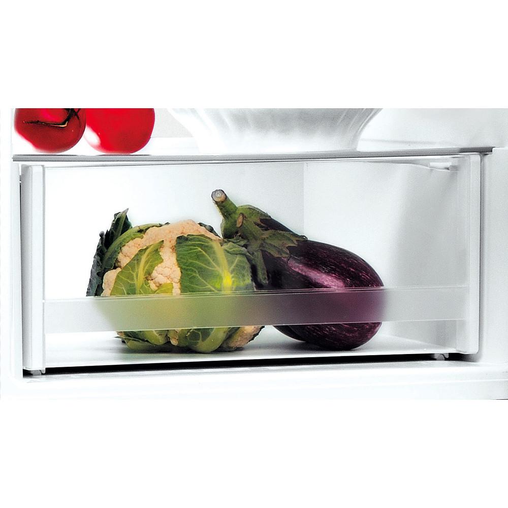 Indesit Комбиниран хладилник с камера Свободностоящи LI8 S2E K Черен 2 врати Drawer