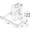 Whirlpool Liesituuletin Kalusteisiin sijoitettava WHBS 93 F LK X Inox Wall-mounted Elektroninen Frontal
