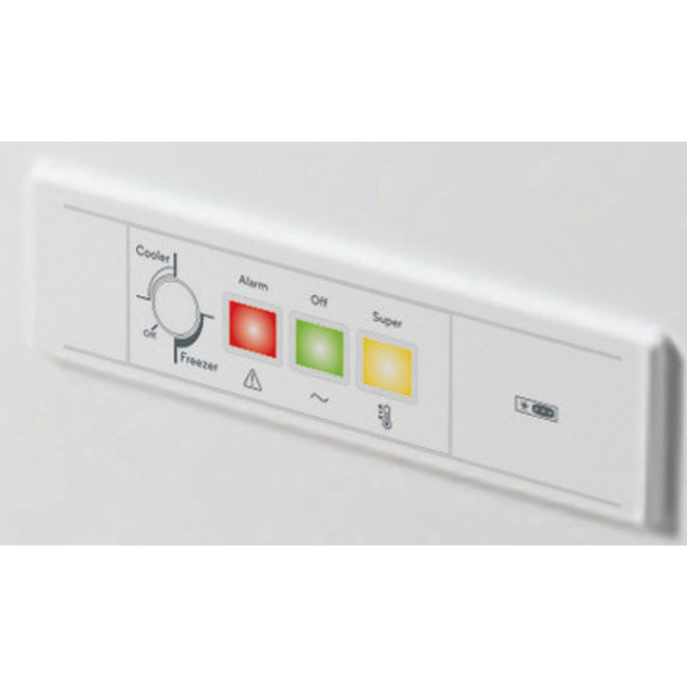 Indesit Freezer Free-standing OS 1A 250 H2 1 White Control panel