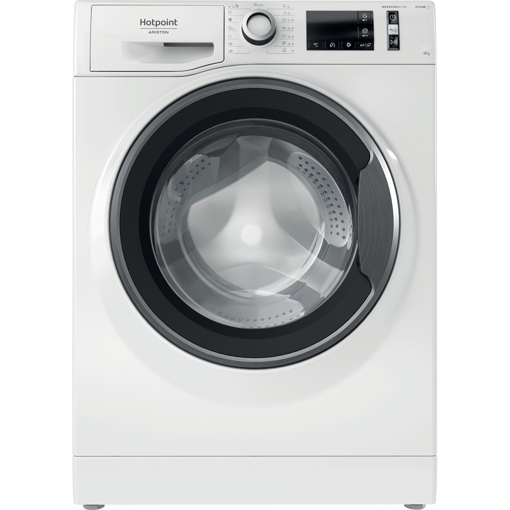 Hotpoint_Ariston Maşină de spălat rufe Neincorporabil NM11 945 WS A EU N Alb Încărcare frontală B Frontal