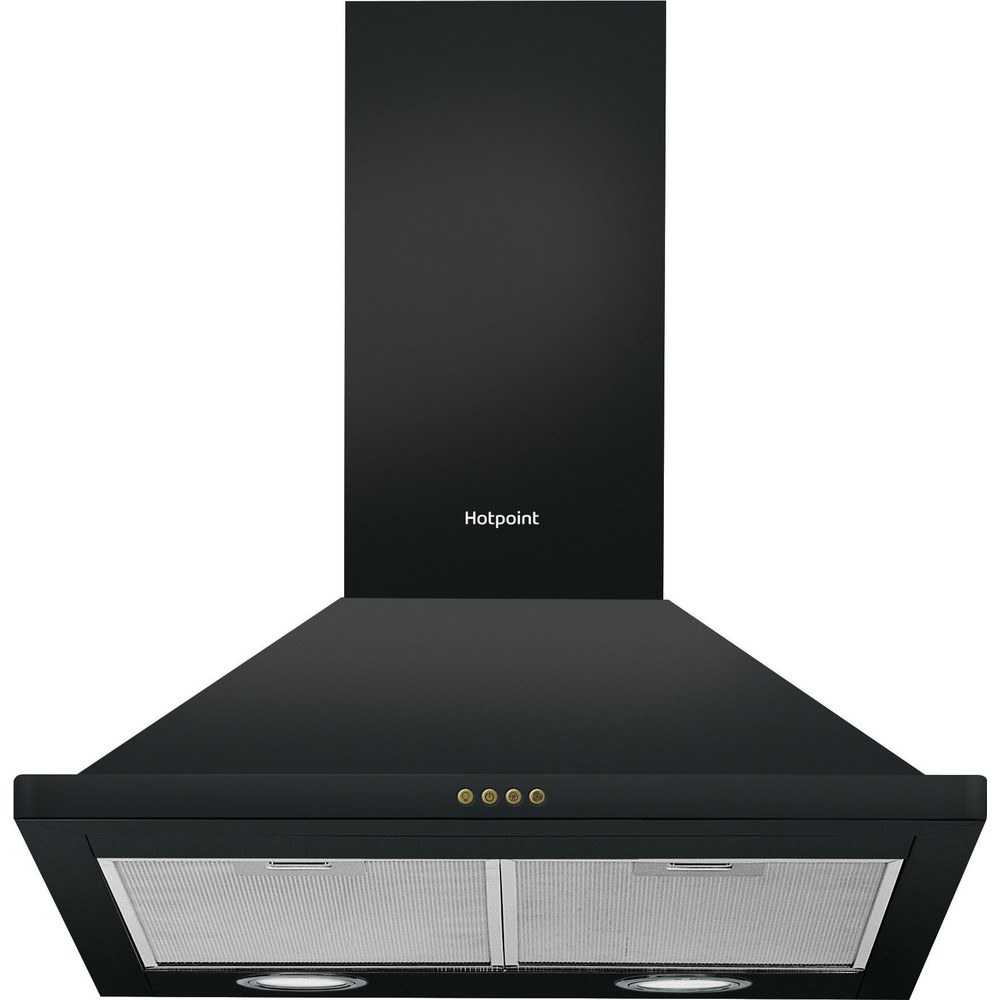 Hotpoint HOOD Built-in PHPN6.4FLMK Black Wall-mounted Mechanical Frontal