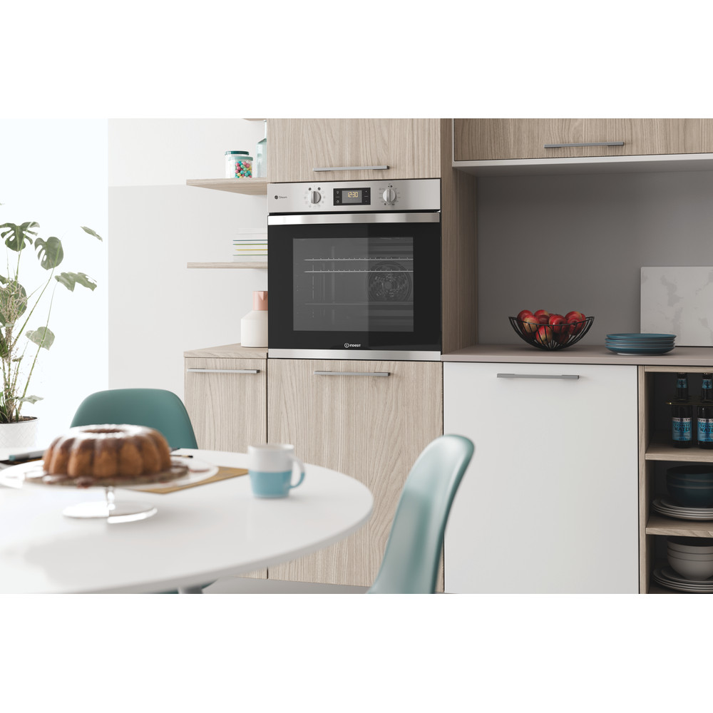 Indesit OVEN Built-in KFWS 3844 H IX UK Electric A+ Lifestyle perspective