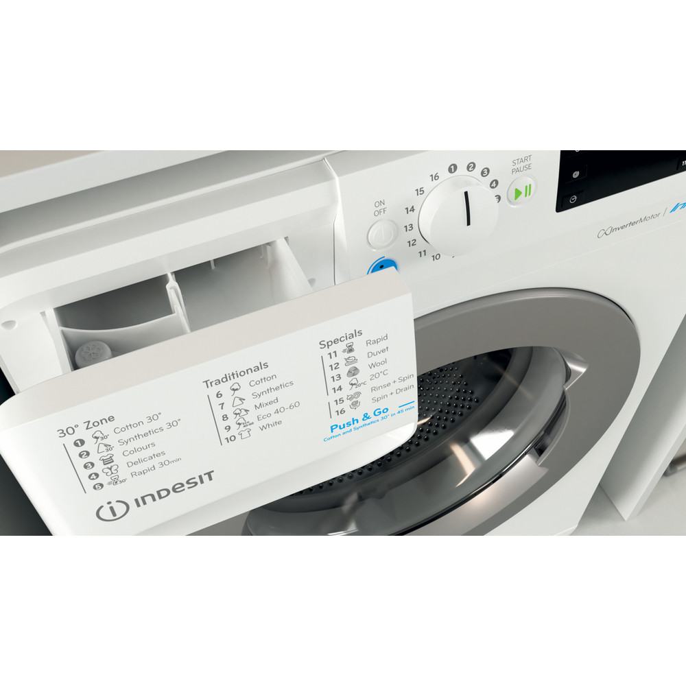 Indesit Pračka Volně stojící BWE 81484X WS EE N Bílá Front loader C Drawer
