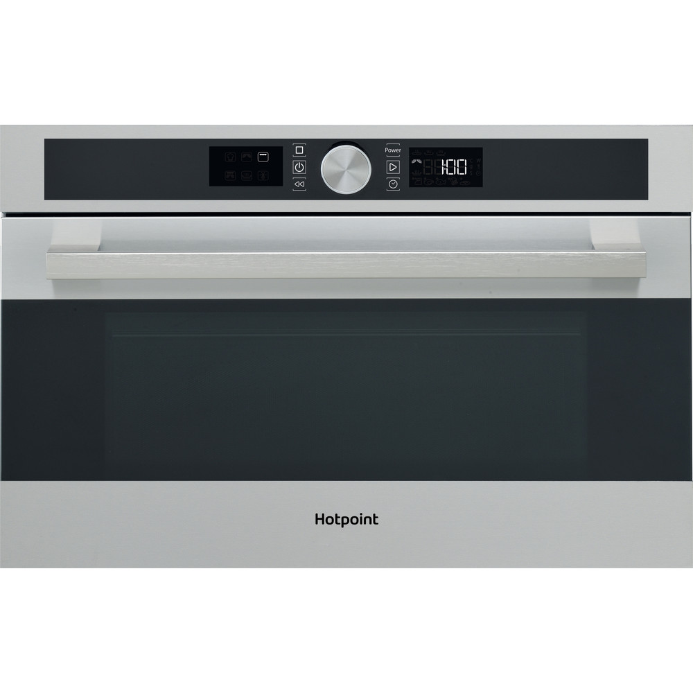 Hotpoint Microwave Built-in MD 554 IX H Inox Electronic 31 MW+Grill function 1000 Frontal