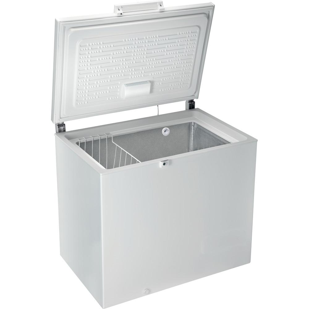 Indesit Congelatore A libera installazione OS 2A 250 H 2 Bianco Perspective open