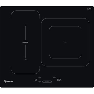 Indesit Encimera IB 44Q60 NE Negro Induction vitroceramic Frontal