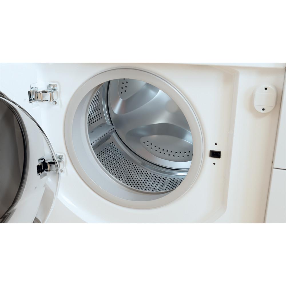 Indesit Washer dryer Built-in BI WDIL 75125 UK N White Front loader Drum