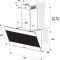 Indesit Afzuigkap Ingebouwd IHVP 83F LM K Zwart Wandmodel Mechanisch Technical drawing