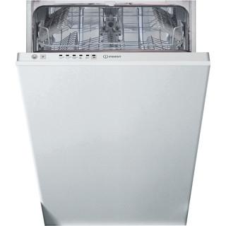 Indesit ugradbena mašina za pranje suđa: slim, bijela boja