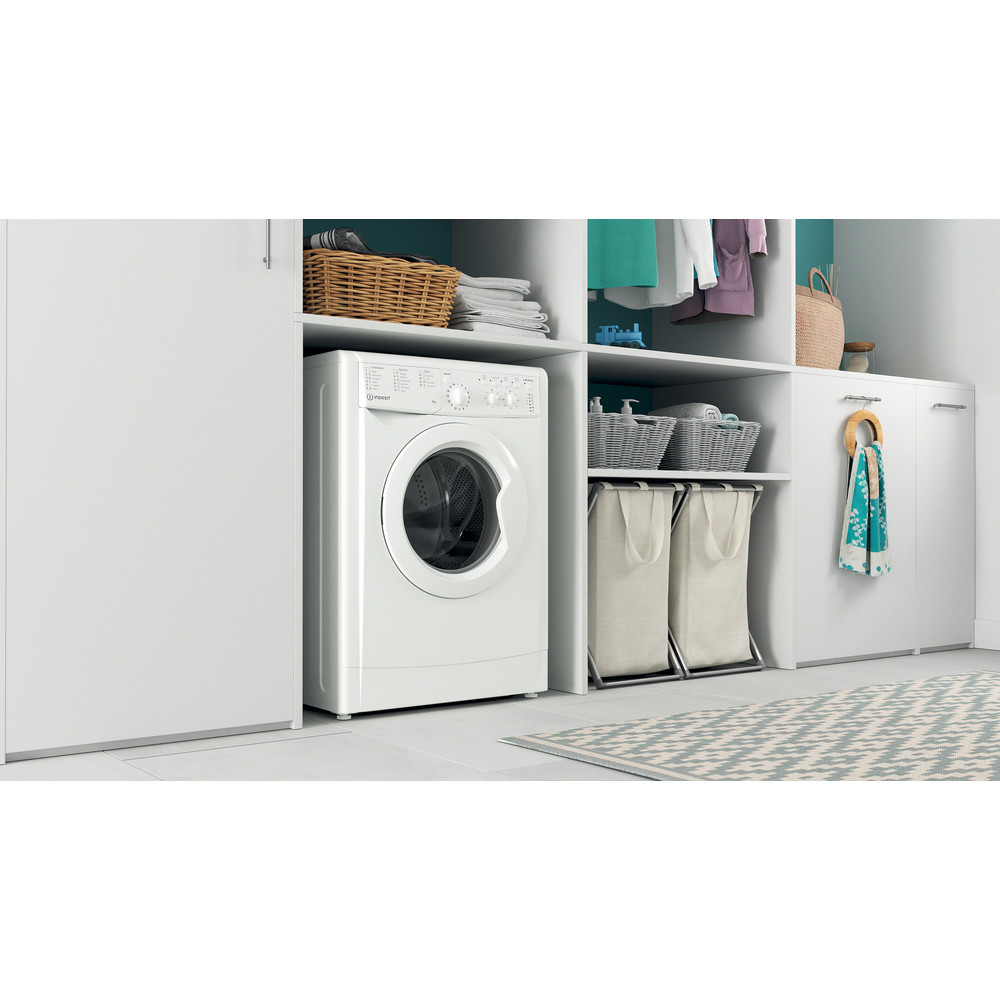 Indesit Washing machine Free-standing IWC 81251 W UK N White Front loader F Lifestyle perspective