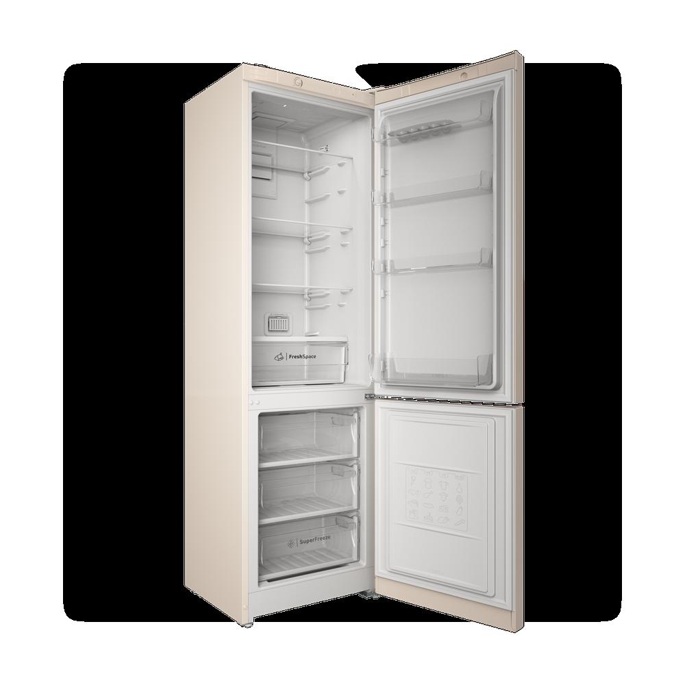 Indesit Холодильник с морозильной камерой Отдельностоящий ITS 4200 E Розово-белый 2 doors Perspective open