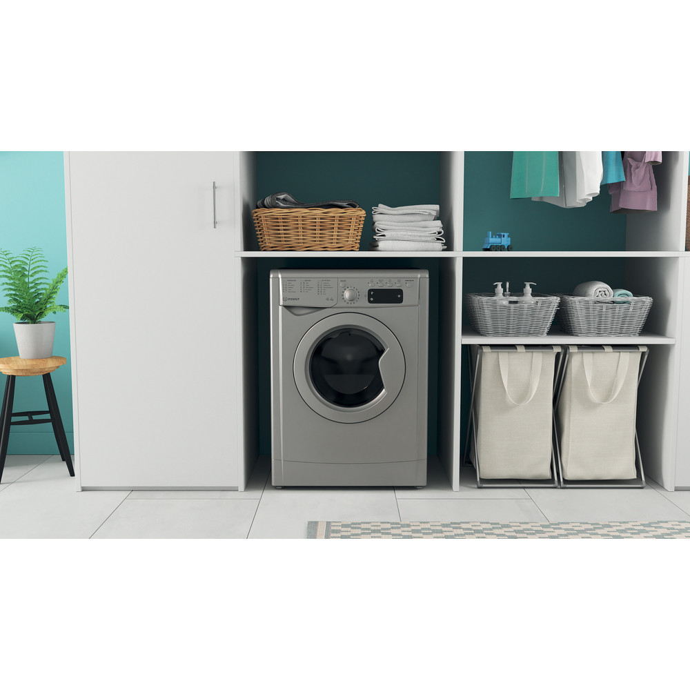 Indesit Washer dryer Free-standing IWDD 75145 S UK N Silver Front loader Lifestyle frontal