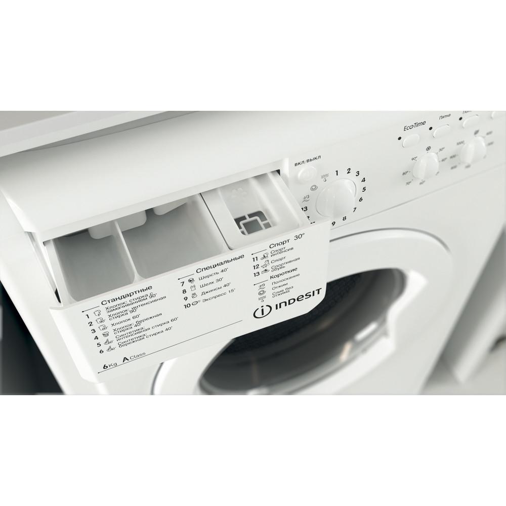 Indesit Стиральная машина Отдельностоящий IWC 6105 (CIS) Белый Фронтальная загрузка A Drawer