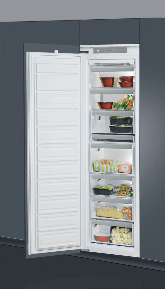 Whirlpool Freezer Built-in AFB 18431 White Lifestyle perspective open
